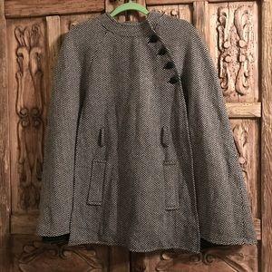 Joan Rivers Wrap Style/ Cape Coat Sz - M